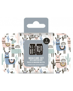 Danielle Creations Llama 7pc Manicure Set With Case