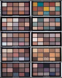 MUA 15 Shade Eyeshadow Palette (SCUFFED CASES)