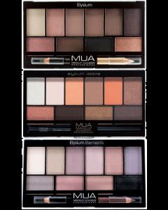 MUA Elysium 10pc Eyeshadow Palette & Pencil (SCUFFED CASES)