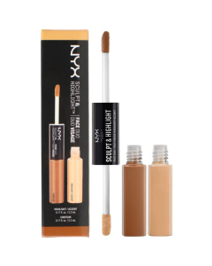 NYX Sculpt & Highlight Face Duo Almond/Light Pack Of 3