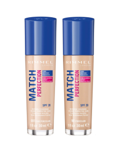 Rimmel Match Perfection Foundation Pack Of 3