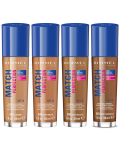 Rimmel Match Perfection Foundation Dark Shades Pack Of 3