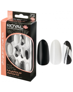 Royal Mystique Almond Nail Tips Pack Of 6
