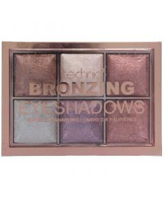 Technic Bronzing Baked Eyeshadow Palette Bronze