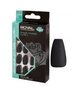 Royal Black Magic Coffin Nail Tips Pack Of 6