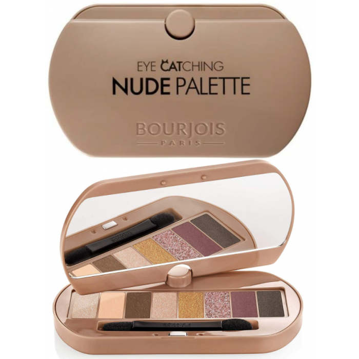 Палетка теней Bourjois Eye Catching Nude Palette - «Обзор