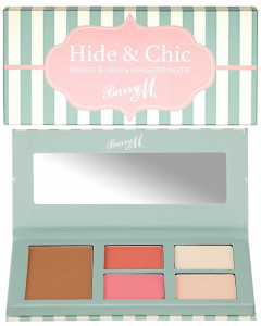 Barry M Hide & Chic Bronzer, Blusher & Highlighter Palette Pack Of 3