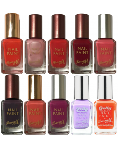 Barry M Nail Paint/Gelly Hi Shine Nail Polish Pack Of 30