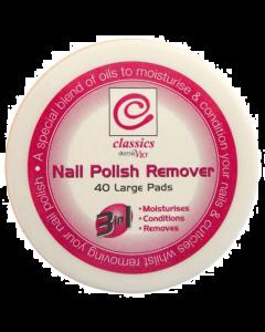 Classics Nail Polish Remover 40 Large Pads