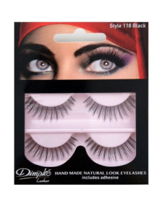 Dimples False Eyelashes Black Style 118