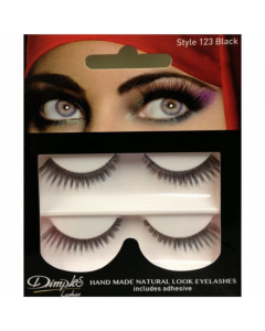 Dimples False Eyelashes Black Style 123