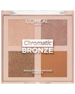 L'Oreal Chromatic Bronze Highlight & Contour Palette Pack Of 3