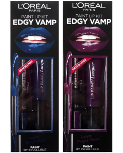 L'Oreal Edgy Vamp Infallible Lip Paint &  Lip Liner Set