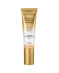 Max Factor Miracle Second Skin Hybrid Foundation 03 Light Pack Of 3