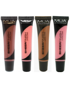 MUA Sheer Finish Lipgloss Pack Of 3