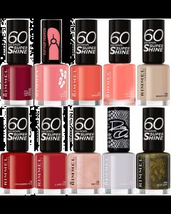 Rimmel 60 Seconds Super Shine/Rita Ora/Flip Flop Fashion Nail Polish Pack Of 30