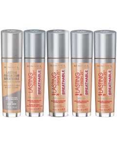 Rimmel Lasting Finish 25HR Breathable Foundation Pack Of 2 Or 3