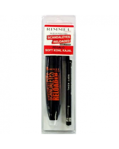 Rimmel Scandaleyes Reloaded Mascara 003 Extreme Black & Soft Kohl Eye Pencil 061 Jet Black