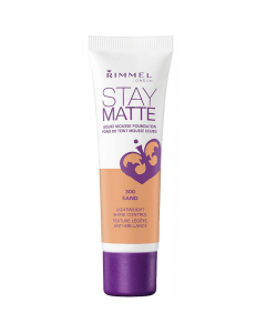 Rimmel Stay Matte Liquid Mousse Foundation 300 Sand Pack Of 3