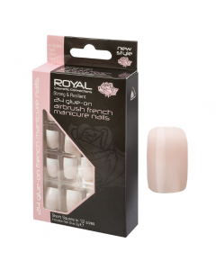 Royal Airbrush French Manicure Nail Tips Pack Of 6