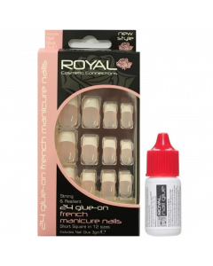 Royal French Manicure Nail Tips Pack Of 6
