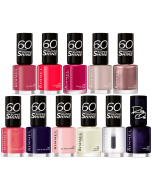 Rimmel 60 Seconds Super Shine/Rita Ora Nail Polish Pack Of 33