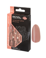 Royal Caramel Latte Almond Nail Tips Pack Of 6
